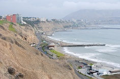 Photo of the Day - #Peruvian #Cliffside #View - #Lima, #Peru - On our very first day on our trip around the world back in 2009, Will and I explored the upscale area of Mira Flores in #Lima, #Peru. Our long walk from our hostel to Mira Flores took us along these steep #oceanside #cliffs. Even though we were so close to the water, we didn't get the feeling that we were remotely near a beach. Photo from #absolutevisit at www.absolutevisit.com - all images Creative Commons Noncommercial