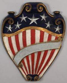 Paper Mache American Shield, Case Antiques, Inc.  Live Auctioneers