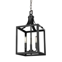 Sea Gull Lighting Labette Black Traditional Square Pendant Light at Lowe's. The Labette collection by Sea Gull Lighting is a charming pendant light collection, featuring a beautiful four-sided, lantern silhouette which is accented 3 Light Pendant, Lantern Pendant, Pendant Lighting, Mini Pendant, Ceiling Pendant, Ceiling Light Fixtures, Ceiling Lights, Ceiling Fans, Dorm Lighting