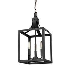 Sea Gull Lighting Labette 3-Light Black Hall-Foyer Pendant