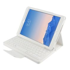 a2e8cbebcb8 Removable Wireless Bluetooth Russian/Hebrew/Spanish Keyboard Stand PU  Leather Case Cover For Apple iPad 6 inch Tablet