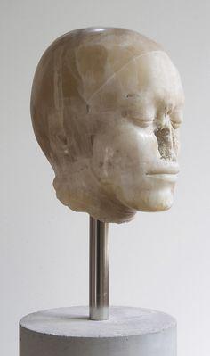 """""""Il male della pietra"""" Nicola Samorì 2014, onyx, steel, concrete, 167 x 20 x 20 cm"""