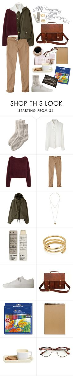 """My heart will eventually find you"" by nia-tanra ❤ liked on Polyvore featuring Toast, Opening Ceremony, Steven Alan, Jack Wills, Corey Lynn Calter, Topshop, Korres, Ella Poe, Common Projects and Retrò"