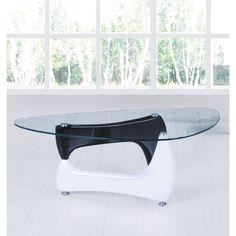 Quebec Hi-Gloss Black & White Coffee Table