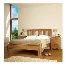 Paris Oak Bed  Super King - 6 Ft with mattress