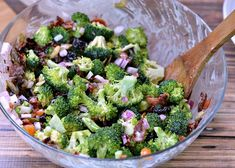 Broccoli Salad Recipe with Bacon, Pumpkin Seeds, and Dried Cherries | Growing Up Gabel