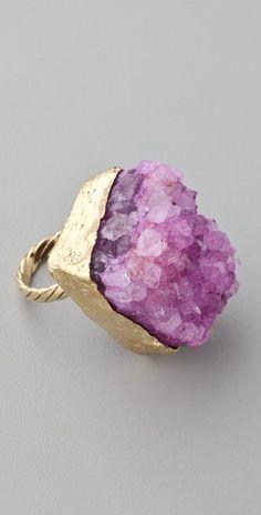 geode ring - looks like my birthstone amythyst Purple Jewelry, I Love Jewelry, Jewelry Rings, Jewelry Accessories, Fashion Accessories, Jewelry Design, Fashion Jewelry, Cheap Jewelry, Jewlery