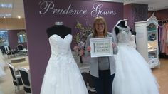 Our new Beverley found her in our store today. Prudence Gowns, Plymouth, Devon, Brides, Store, Wedding Dresses, Fashion, Bride Dresses, Moda