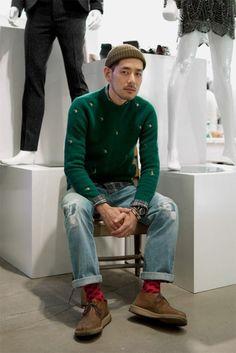 스트릿 패션 - 남자,겨울,스웨터,비니,땡땡이양말 : 네이버 블로그