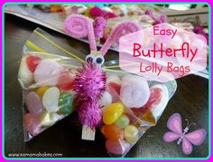 Easy butterfly Lolly bags