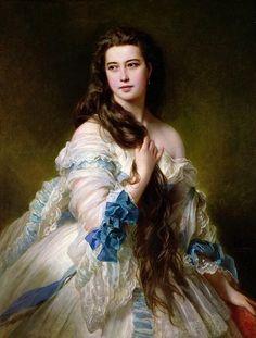 Franz Xaver Winterhalter Портрет Варвары Дмитриевны Римской-Корсаковой. 1864 год.