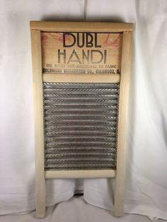 Dubl Handi Pail Size Galvanized Spiral Washboard by SimplyAgain