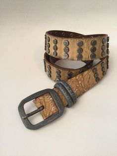 Steel Studded leather rock Belt Sz 36  fashion  clothing  shoes   accessories  womensaccessories  belts (ebay link) a45ab199e69