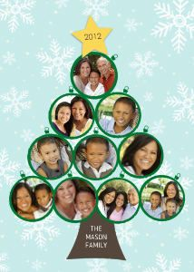 Mixbook Ornament Tree Collage Christmas Cards