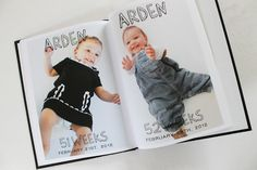 A picture a week for baby's first year, turned into a book.