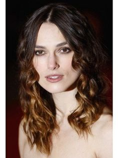 Keira Knightley Long Lace Front Wavy Remy Human Hair Wig