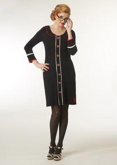Retrosmuk du Milde kjole Lolas Love sort-rød-hvid /dress