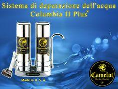 Sistema di depurazione dell'acqua Columbia II Plus. Filtri a carbone attivo e ceramica. Columbia, Filter, Colombia