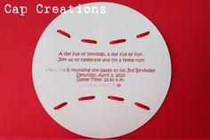 Cap Creations: Baseball Invitation