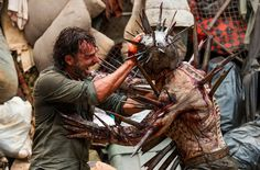 Rick Grimes got tested in a big way during The Walking Dead episode 710 when he went one-on-one with an armored and spiked walker named Winslow. 2017.