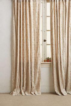 Textured Linen Curtain #anthropologie