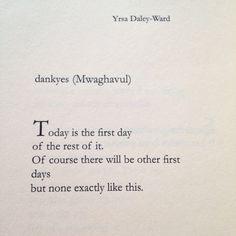 """Yrsa Daley-Ward   """"dankyes""""   [Bone]"""