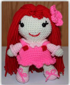 This is a free crochet doll pattern. Go to www.crochetguru.com to find it!