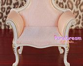I'd like you to refer to this as my throne...1/6 Scale Victorian Furniture Uphostered Pink Chair Armchair Sofa For Barbie Fashion Royalty Pullip Doll Handcrafted SL004