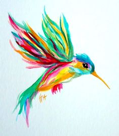 Best colorful hummingbird painting. Color: Colorful. Tags: Best, Amazing, Beautiful