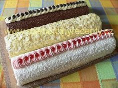 Roláda stáčená za studena Cake Roll Recipes, Fondant Cupcakes, Rolls Recipe, Hot Dog Buns, Vanilla Cake, Sweet Recipes, Bakery, Food And Drink, Cooking Recipes