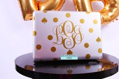Monogrammed Kate Spade inspired MacBook Pro by DinaBinaBoutique, $45.00