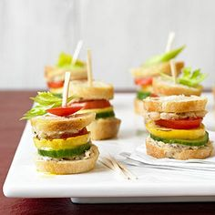 Garden Sliders - baguette, hummus, grilled squash, tomato, cucumber or you could use any other combination of veggies
