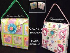 CAJA O BOLSA PARA REGALO HECHA CON MATERIAL RECICLADO Diy Originales, Birthday Bag, Clutch Purse, Gift Bags, Origami, Hello Kitty, Recycling, Lunch Box, Diy Crafts