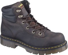Dr. Martens Burnham NS 6 Tie Work Boot Dr. Martens. $101.99. Fit: True to Size. Industrial Greasy Leather. Upper: Volcano Leather, Industrial Greasy Leather. Outsole: Rubber