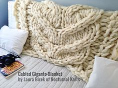 Ravelry: Giganto-blanket pattern by Laura Birek.....Need to make one of these to share with Mark on back porch when the weather is cooler.