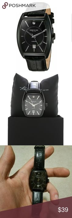 Kenneth Cole New York Men's 'Diamond' Quartz Watch Kenneth Cole New York Men's 'Diamond' Quartz Stainless Steel and Leather Dress Watch, Color:Black (Model: 10030820)    The watch is pretty much in brand new condition and was only worn a few times. Kenneth Cole Accessories Watches