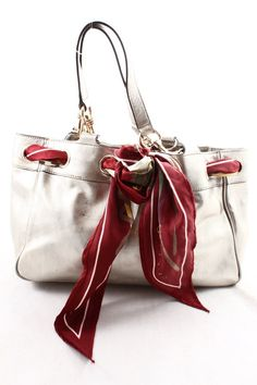 Gucci Metallic Gold Shoulder Bag with Scarf Accessory  - $700
