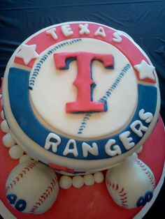 Texas Rangers Baseball Cake By PatSims on CakeCentral.com