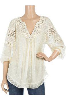 Ivory flowy blouse