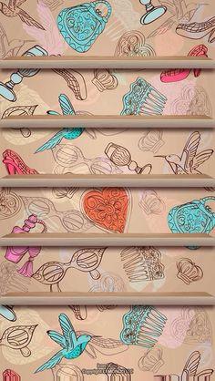 33 best Ideas for wallpaper iphone cool shelves Wallpaper Telephone, Black Phone Wallpaper, Wallpaper Iphone Disney, Trendy Wallpaper, Geometric Wallpaper, Pretty Wallpapers, Wallpaper Shelves, Map Wallpaper, Mobile Wallpaper