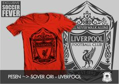 "Kaos LIVERPOOL ""YOU'LL NEVER WALK ALONE"" [READY STOCK] SABLON   : HITAM SOFT RUBBER"
