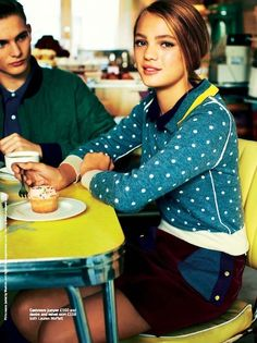 """The Terrier and Lobster: """"Preppy Style is Just So Cute"""" by Chris Craymer for Glamour UK January 2013"""