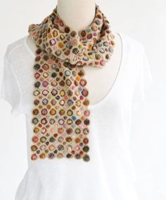 Sophie Digard crochet - CONCENTRIQUE VERLOURS MINUS WOOL SCARF / BEIGE (SMALL)