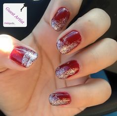 Red Glitter nails for Christmas
