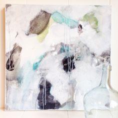Acrylmalerei - Abstrakte Malerei in Türkis und Schwarz/Weiß - ein Designerstück von B-malt bei DaWanda