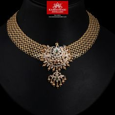 Jewelry OFF! Closed Setting Cz Granduer in mesh work Gold Jewellery Design, Gold Jewelry, Diamond Jewelry, Diamond Bracelets, Gold Necklaces, Cartier Bracelet, Teen Jewelry, Diamond Necklace Set, Diamond Choker