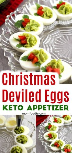 Keto Holiday Appetizers - Christmas Deviled Eggs - Recipes & Co - Low Carb Appetizers, Appetizer Recipes, Keto Recipes, Recipes Dinner, Appetizer Ideas, Potato Recipes, Pasta Recipes, Crockpot Recipes, Soup Recipes