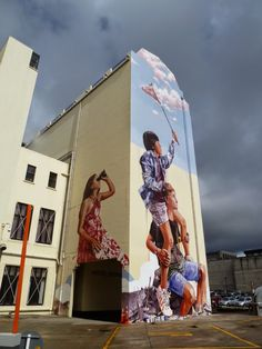 Our friend Fintan Magee is currently in New Zealand where he just finished working on this massive mural on the streets of Dunedin.