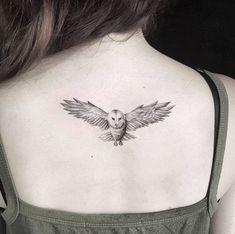 Owl tattoo by Otavio Borges #tattoodesign