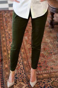 What To Wear This Fall Instead Of Jeans: Army Green Chinos